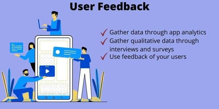 In Step 10 Use the feedback of your users to make improvements to your application
