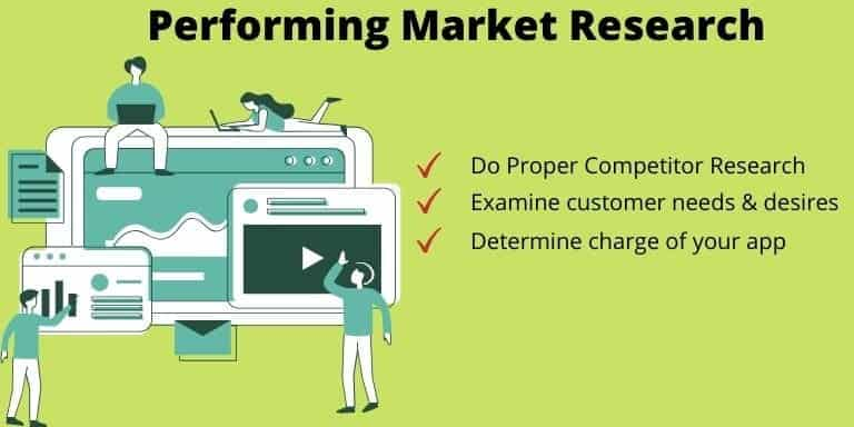 Third step to make an app is to Performing Market Research