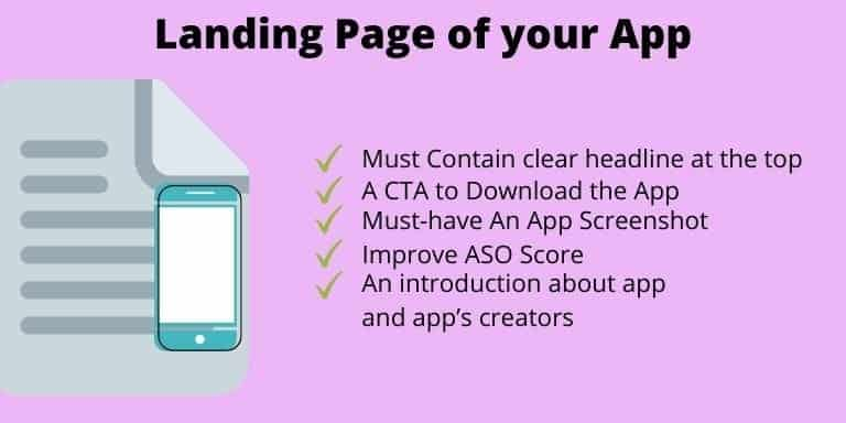 Eight step to make an app is to Build Landing Page of your App