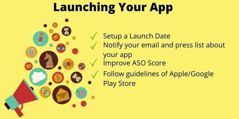 9th step to make an app is to Launching Your App