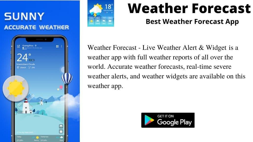 Weather Forecast – Live Weather Alert & Widget app.