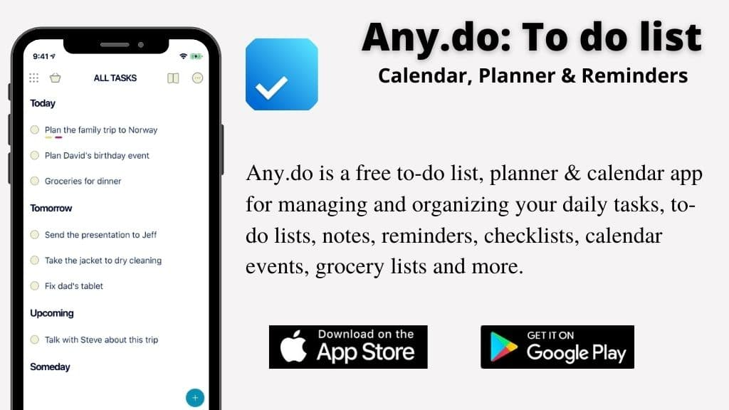 app of week- Any Do To Do List and Calendar