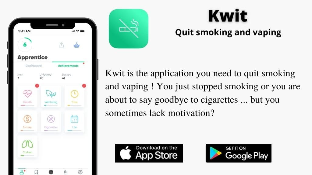 Kwit app - Quit smoking and vaping for good!
