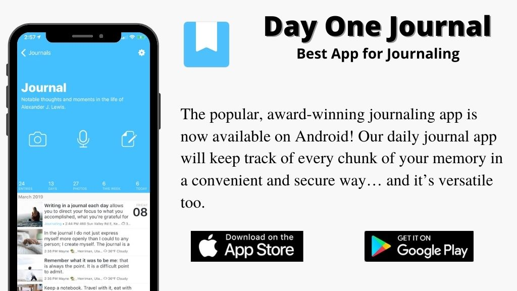 Day One Journal –  Best App for Journaling