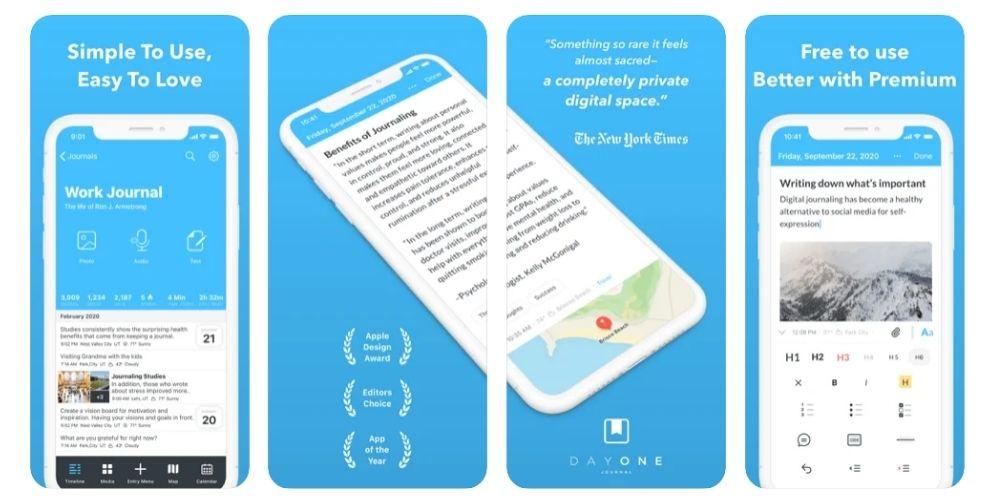 Day One Journal App Screenshots